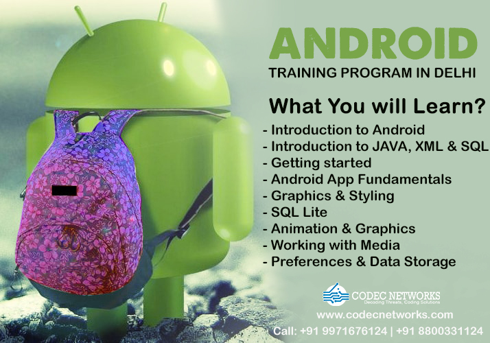 Android Training Certification in Delhi
