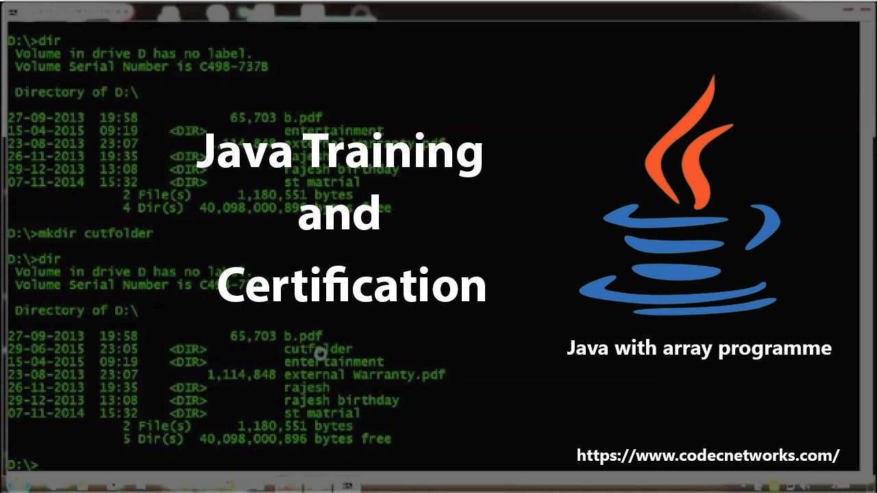 Java Training Certification in Delhi